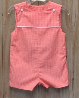 Shay in orange gingham with white piping. Perfect for monogramming!