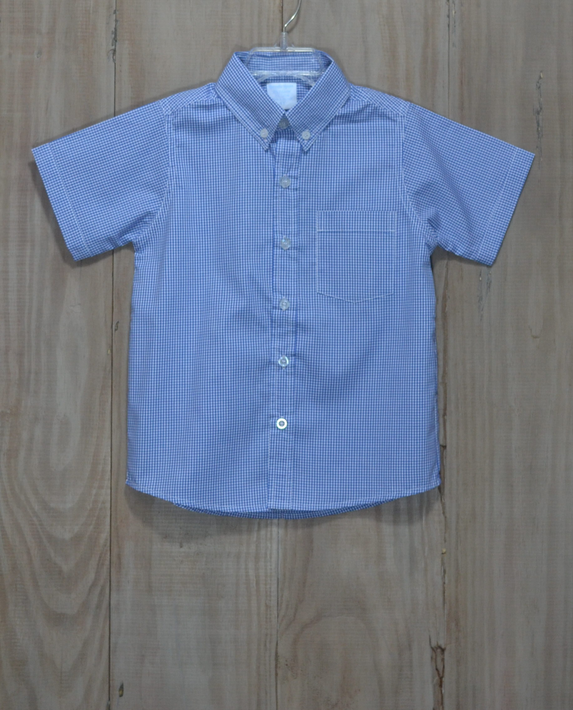 Royal Blue Gingham Button Down Shirt Earl 39 S Baby Land