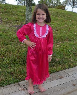Fuchsia nylon gown