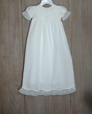 Heirloom Christening gown in 100% cotton batiste.