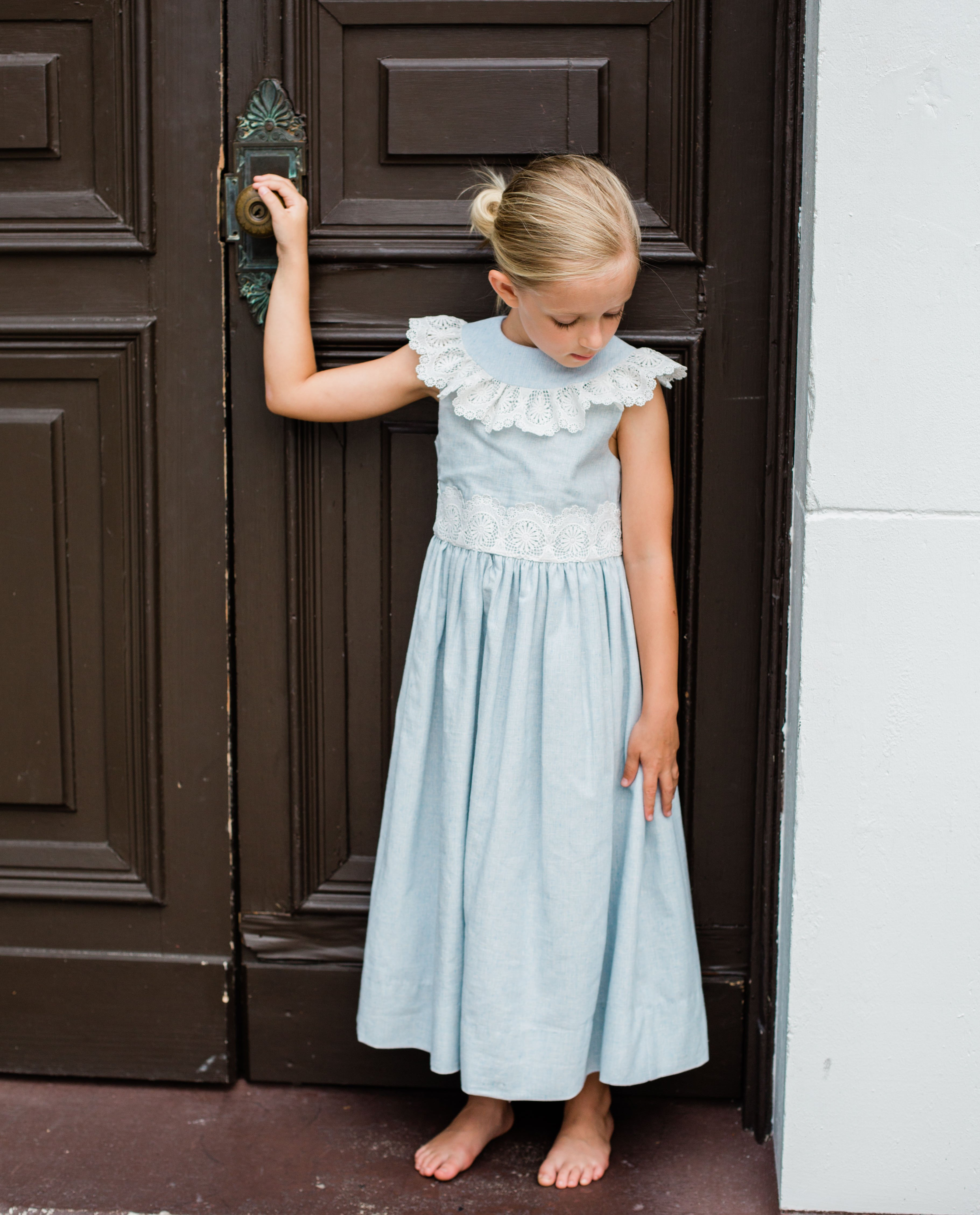5f978fba9a0 Blue linen sleeveless dress composed of 55% linen and 45% cotton and is  machine