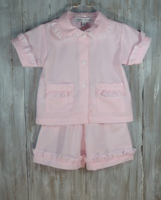 """Pale pink loungewear in the softest fabric. Your little angel will not want to take it off! By """"Sweet Dreams"""""""